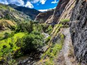 10 The exposed canal-trail above the rio Chamba