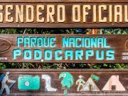 02 Sign at Yambala trailhead to the waterfall el Palto & refugios