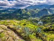 13 View on barrio San Jose & Yamburara bajo from Mollepamba trail