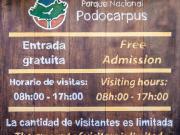 03 Information board, entrance PN POdocarpus Cajanuma