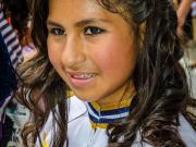 Girl at the Desfile Cívico, 154 Años de Emancipación Política de Vilcabamba