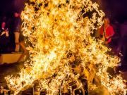 """41 Burning of the """"Monigotes, New Years eve, Parque Vilcabamba"""