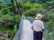 10 Suspension bridge, rio Vilcabamba, in El Chaupi