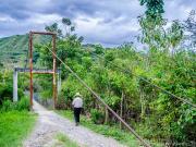 07 Suspension bridge, rio Vilcabamba, in El Chaupi