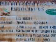 09 PN Podocarpus-entrance sign, los Helechos