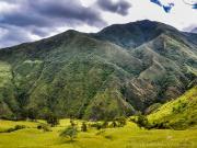 03 Loma- & cerro Los Helechos with waterfall los Helechos