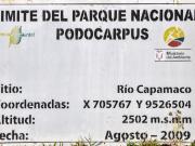 10 Park Podocarpus entrance sign, bordering the Gavilan reserve