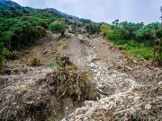 08 Landslide, Miradores trail Cajanuma, PN Podocarpus